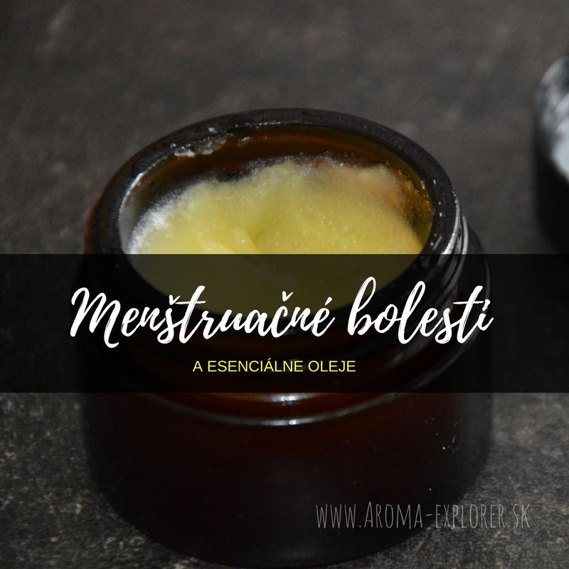 menštruačné bolesti a esenciálne oleje
